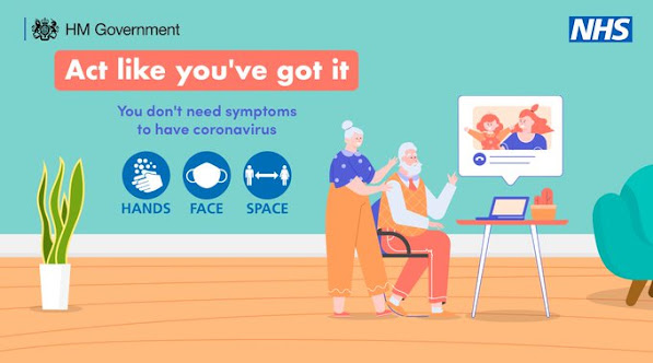 UK GOV Act like you've got it you don't need symptoms to have COVID