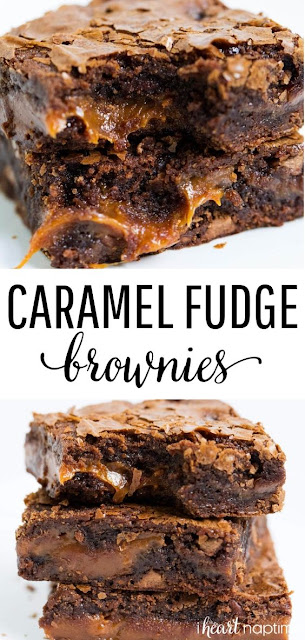 Chocolate Fudge Caramel Brownies – Easy To Make Brownies That Are Loaded With Chocolate Chips And Layers Of Gooey Caramel. Rich, Chewy And Simply Amazing!