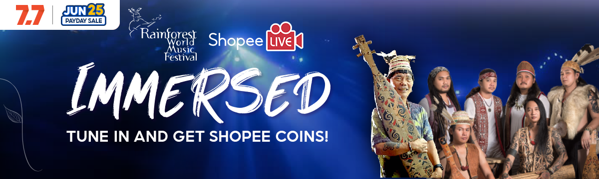 Rainforest World Music Festival (RWMF) is from 18 to 20th June 2021 Officially on Shopee Live from 6PM Onwards