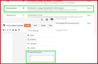 Add keywords to meta description blogger
