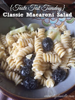 {Taste Test Tuesday} Classic Macaroni Salad