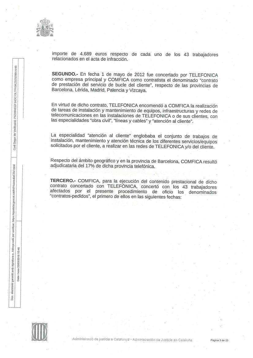 EL JUEZ SENTENCIA QUE LOS AUTÓNOMOS DE COMFICA BARCELONA ERAN ...