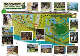 Plano del parque Deltaventur.