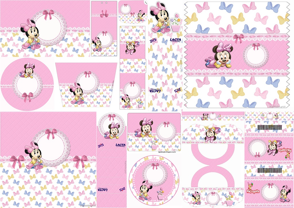 Lovely Minnie Baby Free Printable Candy Bar Labels Oh My Baby