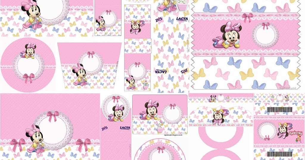 Lovely Minnie Baby Free Printable Candy Bar Labels Oh
