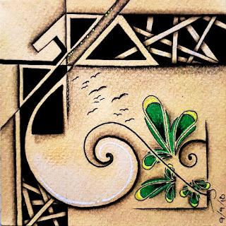 IAST #259 with Tangle Patterns: Hollibaugh, 7Keys, Sling-Slang, Diamonte