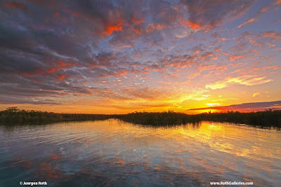 Sunset at Loxahatchee National Wildlife Refuge