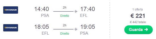 Volo Pisa - Cefalonia
