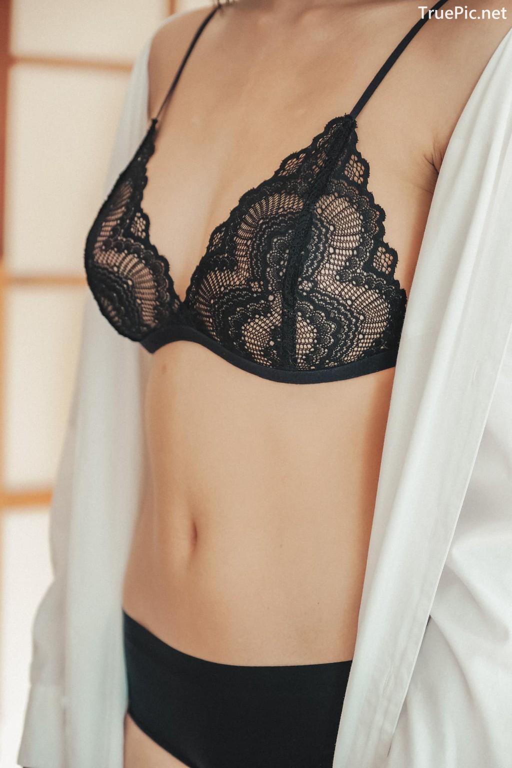 Image Thailand Sexy Model – Baifern Rinrucha Kamnark – Black Lingerie - TruePic.net - Picture-3