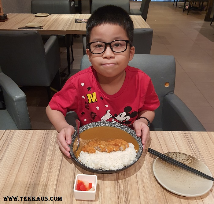 Wa Zen Menu Katsu Karei Rice