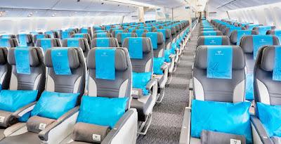 Cabine Air Austral : les sièges