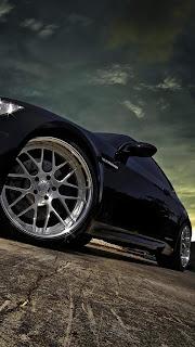 Black Car Mobile HD Wallpaper
