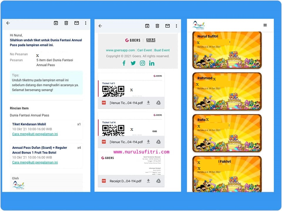 Cara Beli Tiket Annual Pass Dufan Ancol Online Nurul Sufitri Travel Blogger