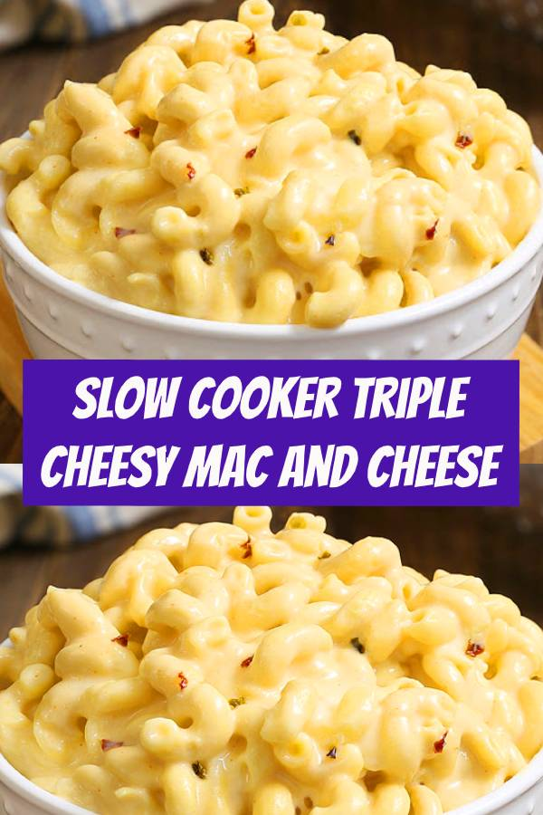 Crock Pot Mac and Cheese is a simple recipe that you can toss together in just 5 minutes. It is truly one of our favorite recipes in our book! It's pure comfort in a bowl, with perfectly tender corkscrew pasta with twists and ridges that capture the luscious pepper Jack and cheddar cheese sauce. It has just enough heat to wake up your taste buds. #slowcooker #macandcheese #crockpot
