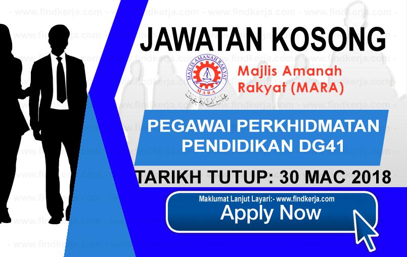 Jawatan Kerja Kosong MARA - Majlis Amanah Rakyat logo www.findkerja.com mac 2018