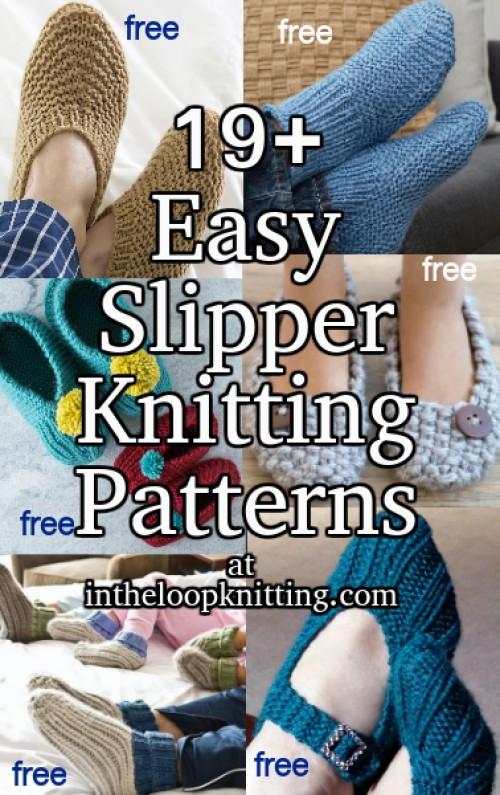 Beautiful Skills Crochet Knitting Quilting Easy Slipper Knitting