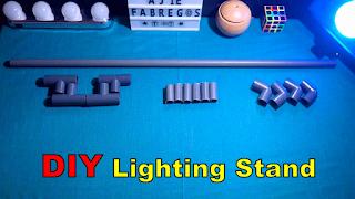 cara membuat stand lighting pipa pvc DIY