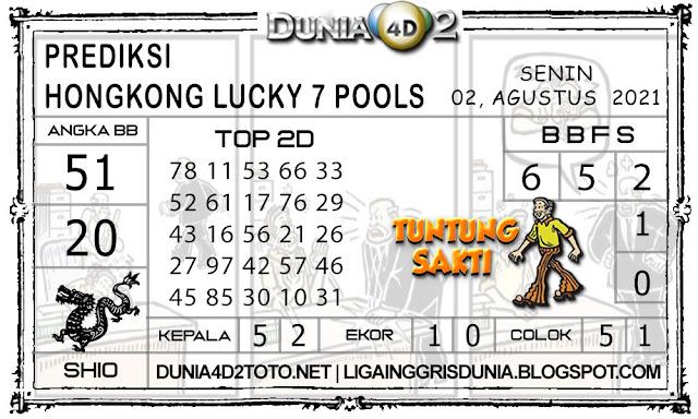 Prediksi Togel HONGKONG LUCKY7 DUNIA4D2 02 AGUSTUS 2021