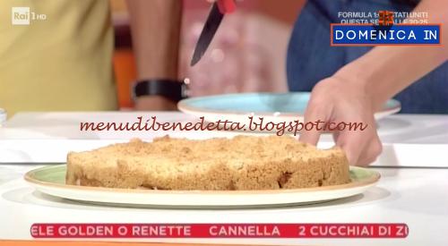 Domenica In - Torta di mele croccante ricetta Benedetta Parodi
