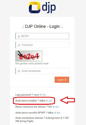 Cara Mendaftar DJP Online