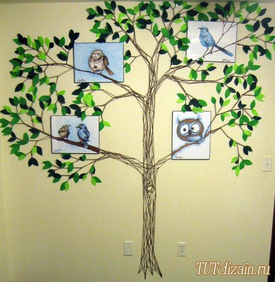 árboles, manualidad, bricolaje, diys, arte, pared, decoración