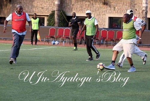 Saraki, Melaye, Tambuwal, Other Lawmakers Play Football to Celebrate Dogara's 50th Birthday (Photos)