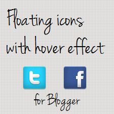 Floating social media buttons for blogger