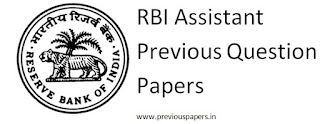 RBI Assistant Previous Question Papers