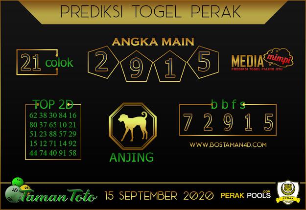 Prediksi Togel PERAK TAMAN TOTO 15 SEPTEMBER 2020