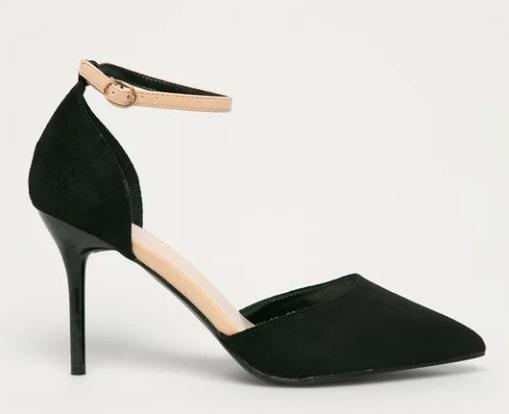 Answear Lab - Pantofi cu toc subtire decupati Colour Cherie