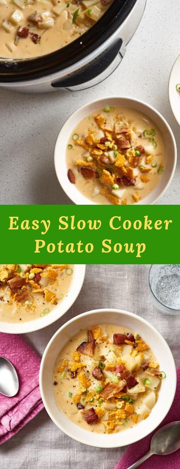 Easy Slow Cooker Potato Soup