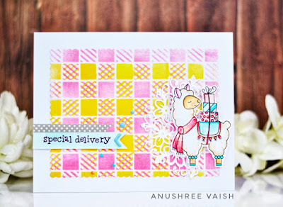 Special delivery by Anushree features Gingham and Llama Delivery by Newton's Nook Designs; #newtonsnook