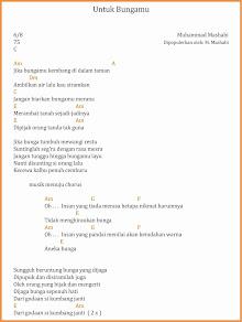 chord untuk bungamu dangdut, m. mashabi