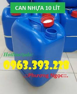 Can nhựa 10 lít, can nhựa vuông đựng hóa chất, can nhựa có núm 2e46457bd142371c6e53