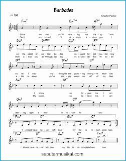 chord barbados lagu jazz standar