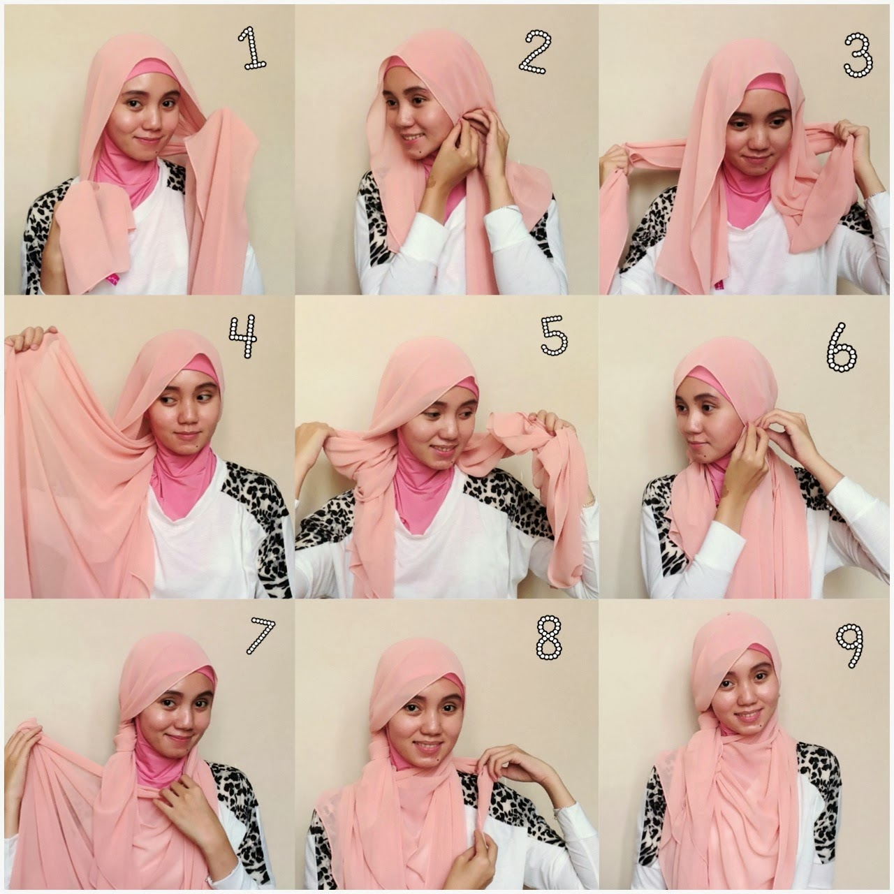24 Gambarnya Tutorial Hijab Segi Empat Lancip Biking Ngakak