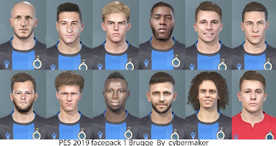 PES 2019 Faces Club Brugge by Cybermaker