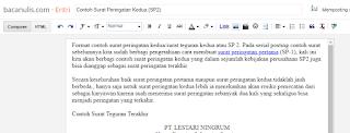 Contoh Surat Peringatan Kedua (SP2)