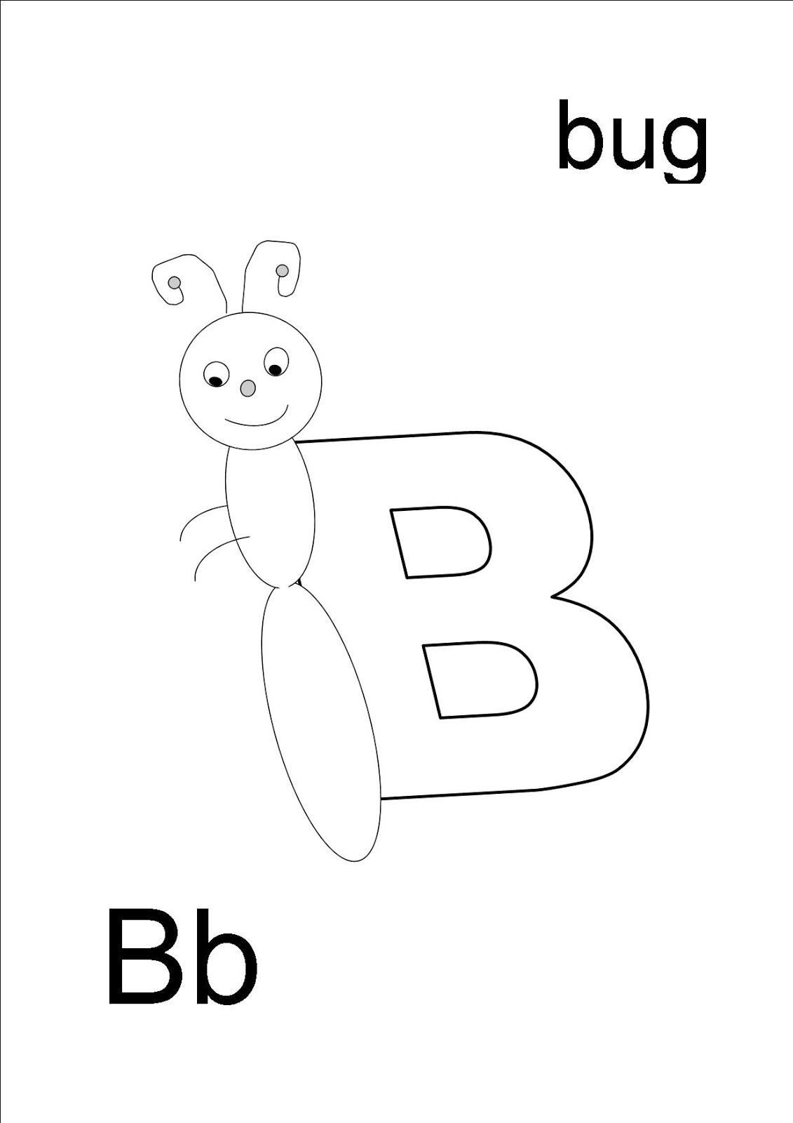 loaded lemon juice preschool letter of the week b is for bug