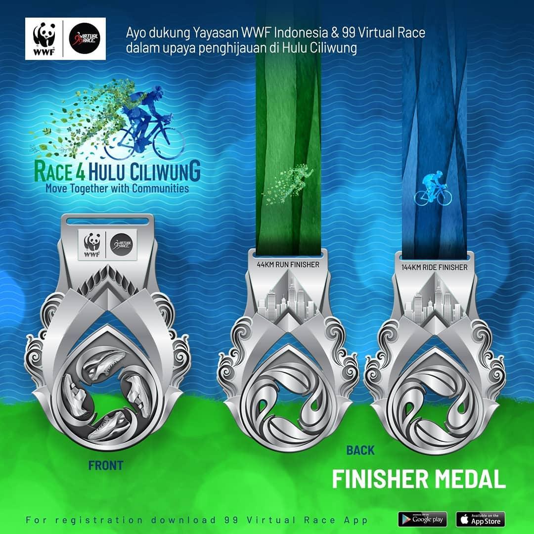 Medali � Race 4 Hulu Ciliwung • 2021