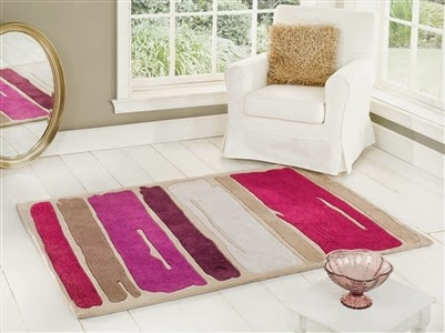 Paint Strokes Rug - Purple