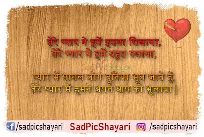 hindi heartbreak shayari