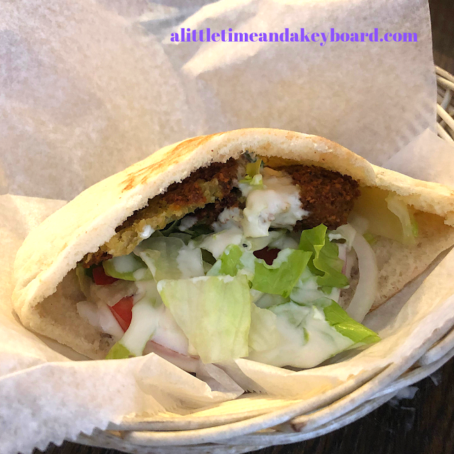 Falafel sandwich at Old Jerusalem in Old Town, Chicago