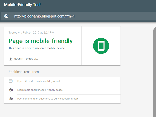 Mobile Freindly Test for Blogger Template with responsive designs