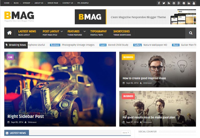 BMag Best Blogger Templates Without Credit