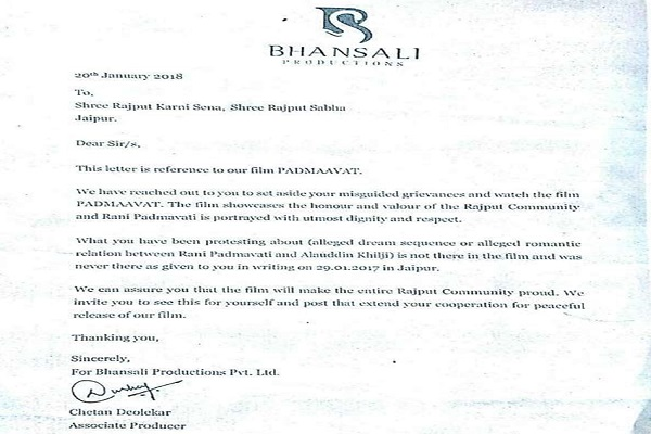 sanjay-leela-bhasali-wrote-letter-to-rajput-karni-sena