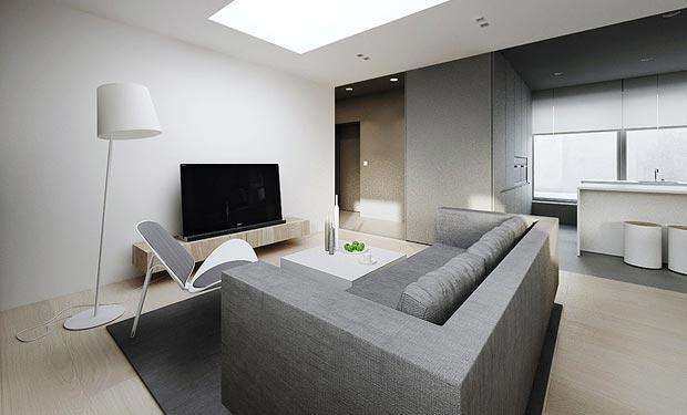 Hogares frescos moderno dise o interior minimalista plano for Design minimalista