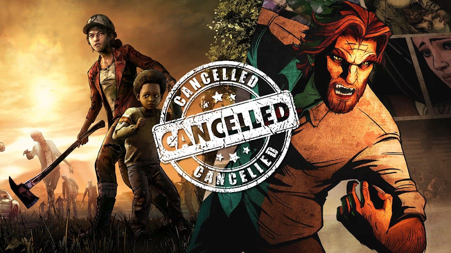 telltale games walking dead wolf among us cancelled