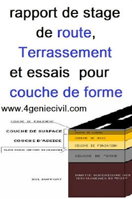 Rapport de stage : Terrassement et la certification des matériaux pour la couche de forme.