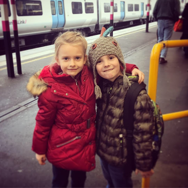 Bert and his bestie waiting for the train